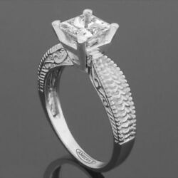 SMOOTH PRINCESS SQUARE DIAMOND RING AWESOME VVS1 1.12 CT 14 KT WHITE GOLD WOMENS