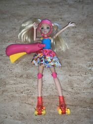Barbie Video Game Hero Spinning Skating Light Up Doll Complete