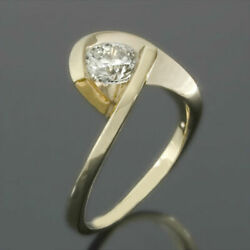 WEDDING DIAMOND TWISTED RING 2 CARATS SI1 18 KARAT YELLOW GOLD REAL ELEGANT