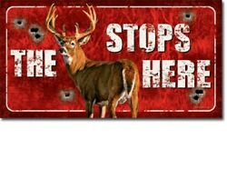 The Buck Stops Here Deer Hunting Hunt Cabin Wall Decor Funny Tin Metal Sign New