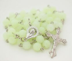 Glow in the dark Rosary Necklace extra long Catholic Religious wall room Rosary $8.90