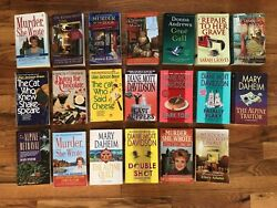 Lot of 20 Cozy Mysteries PBs Cat Who Murder She Wrote Catering Library +