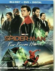 Spider-Man Far From Home (Blu-Ray + DVD + Digital 2019) Like New w Slipcover