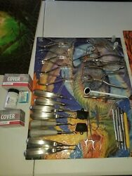 Large  Lot MEDICAL  DENTAL TOOLS  28 total. All used. Plus extra's