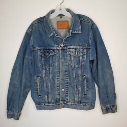 Vintage Calvin Klein Mens Denim Trucker Jacket Jean Coat Western Size Small