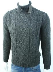 Armani Exchange AX Mens Cable Stitch Turtleneck Sweater Wool Blend Pullover NWT