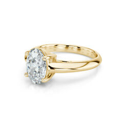 WEDDING 0.93 CT 4 PRONG WOMENS DIAMOND RING OVAL SPARKLING NEW 18K YELLOW GOLD