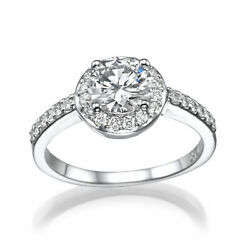 DIAMOND HALO RING 2.54 CT COLORLESS VS D ANNIVERSARY 18K WHITE GOLD SIZE 6.5 8 9