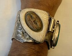 Large Handmade Cuff By Buddy Lee Sterling Silver