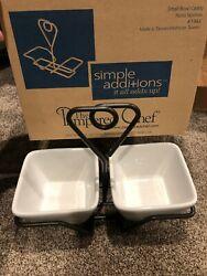 """The Pampered Chef """"Small Bowl Caddy"""" #1944 w 2 Bowls ~ Serving Dishes"""