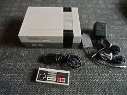 Nintendo NES Console Bundle with Controller And Cords -Tested & Working-