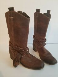 ADORABLE BEDSTU WOMENS BOOTS SIZE 6 BROWN DISTRESSED LOOK $45.00