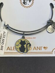 NWT ALEX AND ANI Black Cat Glow in the Dark Charm Bangle Halloween 2019 SOLD OUT