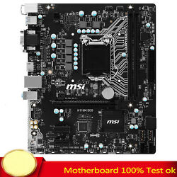 FOR MSI H110M ECO Motherboard Tested 1151 H110 DDR4 DVIHDMI M ATX Mainboard $106.40
