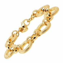 #x27;Italian made Circle Bracelet in 18K Gold Plated Bronze 8quot; $14.10