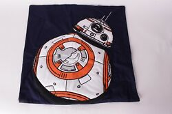 NWT Pottery Barn Kids Star Wars Droid 20 x 20 BB8 pillow cover navy blue droid $29.95