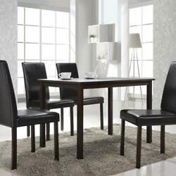 5 Piece Dining Room Set Table and 4 Chairs Dinette Kitchen Home Furniture Wood