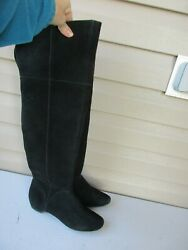 Kenneth Cole Reaction Womens Suede Over-The-Knee Boots 7.5 M