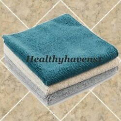 Norwex BODY CLOTH - COASTAL 3 PACK - TEAL GRAPHITE VANILLA - Microfiber BacLock $23.00