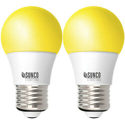 Sunco 2 Pack Dimmable Bug Repel A15 LED Light Bulb 8W 2000K (Yellow) E26 $9.99