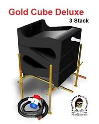 GOLD CUBE 3 Stack Deluxe Complete Kit Gold Prospecting Sluice Gold Silver $388.00