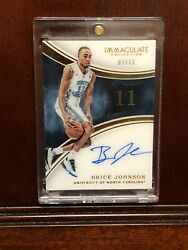 2016 Immaculate Collection Brice Johnson UNC Rookie AutographPatch Card Lot SSP