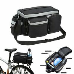Cycling Bicycle Rear Seat Storage Trunk Bag Bike Pannier Rack Waterproof Handbag $16.91