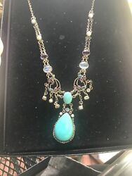 NICKY BUTLER NB RAJ Limited 80400!  TURQUOISE AMETHYST   STERLING NECKLACE 19