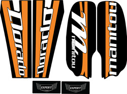 Manitou Dorado Forks Decals Set Stickers Fox MTB Orange $15.00