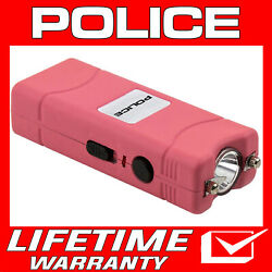 POLICE Stun Gun Mini PINK 801 400 BV Rechargeable With LED Flashlight $9.65