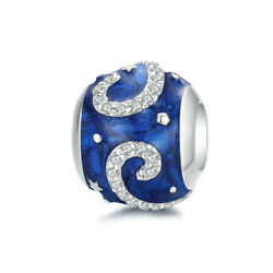 Authentic Fashion 925 Sterling Silver Starry sky ball Charm Jewelry Fit Bracelet $13.50