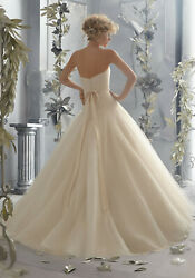 Voyage by Morilee Bridal 6788 Wedding Dress Drop Waist Tulle Ball Gown Ivory 12