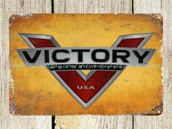 country decor Victory Motorcycles auto shop man cave metal tin sign $16.88