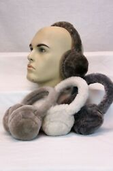 REAL 100% SHEEPSKIN SHEARLING Fur Ear Muffs Warmers Earmuffs Headband Winter NWT