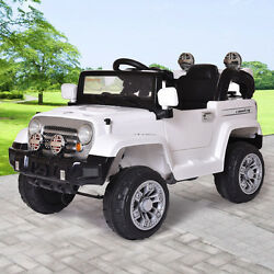 12V Electric Car Kids Ride on Truck Style Toy w Remote Control RC MP3 White $149.99