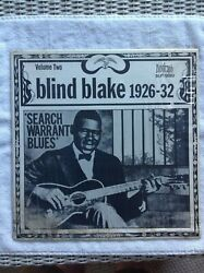 Blind Blake Search Warrant Blues Vol.Two Rare On Biograph Library Copy