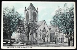 PA Spring City Reformed Church Vintage Postcard Chester County