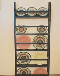 Farmhouse Plate Rack Wall Hanging Country Rustic Plate Rack Stand Plate Rack $156.25