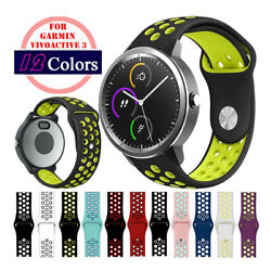Quick Release 20mm Silicone Sport Watch Bands Strap For Garmin Vivoactive 3 $7.99