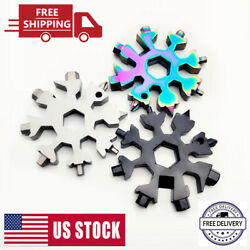 High Quanlity 18 in 1 Multi-Tool Combination Portable Outdoor Snowflake Tools