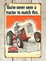 farm equipment Ford Tractor cottage country decor metal tin sign house wall art $16.88