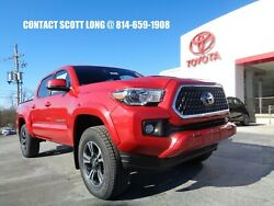 2019 Toyota Tacoma New 2019 Double Cab 4x4 4WD TRD Barcelona Red New 2019 Tacoma Double Cab 4x4 TRD Sport Premium Sunroof Heated Leather Seats