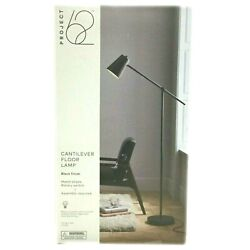 Project 62 Cantilever Floor Lamp Light 62 Inch Bell Shade Black $29.99