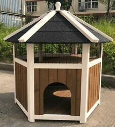 Wooden Cat House WeatherproofSturdy and Cute for Play and Hide W37*D32*H37inch $149.99