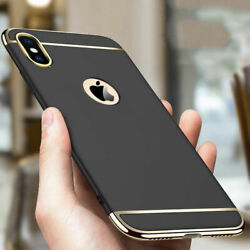 For iPhon e XS X 87 Plus Luxury Shockproof Hybrid Electroplate Slim Case Cover