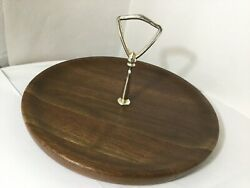 VTG Serving Tray American Solid Walnut DID ware independent Stave co. Lebanon MO