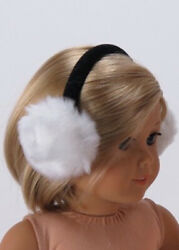 FUZZY BLACK EARMUFFS FITS AMERICAN GIRL AND OTHER 18quot; DOLLS EXCELLENT QUALITY $3.99