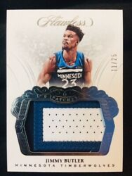 2017-18 Panini Flawless Jimmy Butler Game Used Worn Jersey Patch 25 Mint Rare