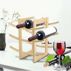 Wooden Wine Rack 12 Bottle Bar Kitchen Storage Shelf Holder Home Decor Wood HT