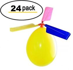 24 Pack Balloon Helicopter Kids Outdoor toys Party Favor stocking suffers $14.99